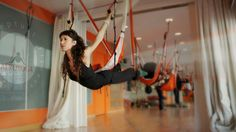 Aerial Pilates and Fitness International Teachers Training Students. Arts and contemporary dance