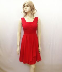 Red Evening Dress. Red Bridesmaid Dress by lisaclothing on Etsy, $42.00