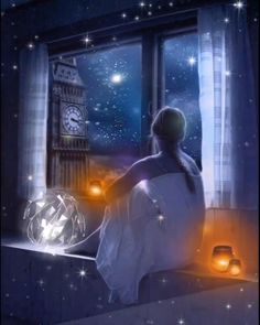A dream of stars surrounds me and makes me dream.⭐️ night make up A dream of stars surrounds me and makes me dream. Good Night Gif, Good Night Wishes, Good Night Sweet Dreams, Good Night Image, Good Night Blessings, Stars At Night, Night Time, Beautiful Fantasy Art, Beautiful Moon