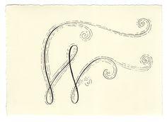 handwritten letters | w