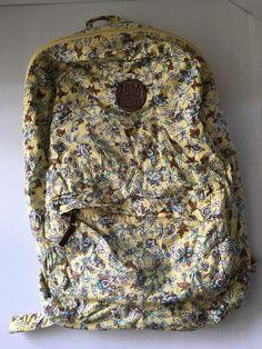 Billabong Juniors Yellow Teal Beach Mantra Backpack Floral Print One Size #billabong #Backpack
