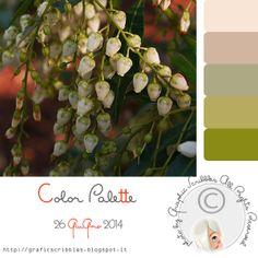 Timidi Mughetti - Color Palette of 26 Giugno 2014 http://graficscribbles.blogspot.it/2014/06/palette-colori-verde-mughetti-foto-fiori.html