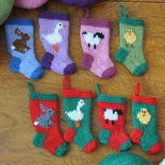 Easter and Farm Animals Stocking Ornaments Set