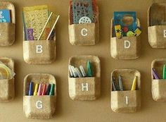 Kids Art Supply Cubbies