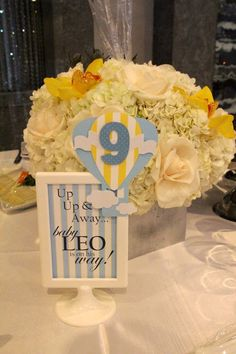 Rachel J Special Events: Up, Up and away...Baby Shower