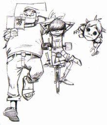 Jamie Hewlett Sketches