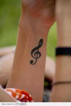 Music Note Wrist Tattoo