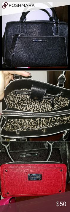 Purse & wallet bundle Nine West purse and wallet bundle Great used condition.  No stains.  No tears.  No rips. Nine West Bags Satchels