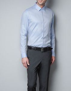 STRUCTURED SHIRT - Shirts - Man - ZARA