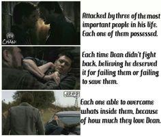 Dean doesn't fight back.