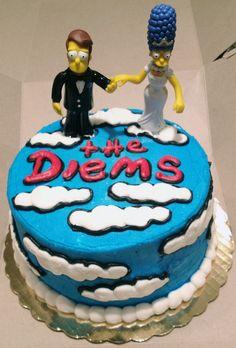Simpsons' Groom's Cake | When Geeks Wed