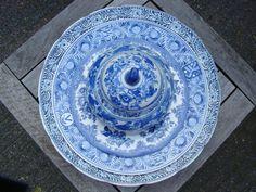 Delftsblauwe borden met mooie randjes
