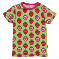 Maxomorra Shirt Erdbeeren grün/rot - KURZARM - www.lolakids.de