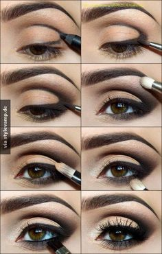 Eye Makeup Tips.Smokey Eye Makeup Tips - For a Catchy and Impressive Look Love Makeup, Makeup Tips, Makeup Tutorials, Makeup Ideas, Eyeshadow Tutorials, Easy Makeup, Black Makeup, Gorgeous Makeup, Pretty Makeup