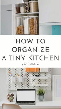 Small Kitchen Organization, Diy Kitchen Storage, Home Organization Hacks, Small Kitchen Diy, Ikea Hack Storage, Kitchen Ideas, Ikea Hack Kitchen, Diy Kitchen Decor, Kitchen Office