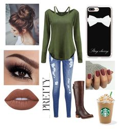 """""""Untitled #94"""" by aderr03 ❤ liked on Polyvore featuring Tommy Hilfiger, Timberland, Lime Crime and Casetify"""