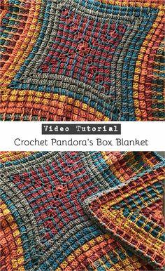 Crochet Pandora's Box Blanket - Pattern + Video tutorial