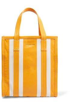 Mustard and ecru textured-leather (Lamb) Zip fastening along top