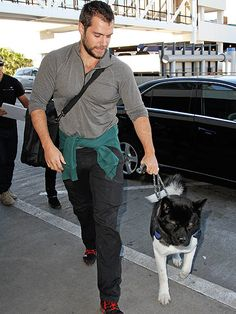 Henry Cavill and his dog - if his buddy is Superman, does that make him Superdog?