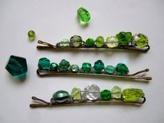 DIY Hair Pins...Just another idea to use up some left over beads from other projects...