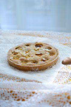 Recette : tarte aux mirabelles et crème d'amandes (version sans gluten, sans lait, sans lactose). Vanessa Pouzet