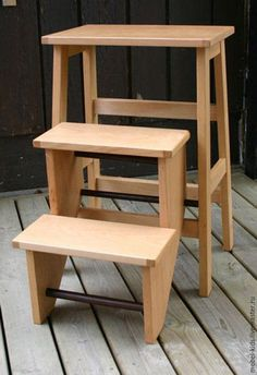 Купить Стульчик Лесенка - белый, мебель ручной работы, мебель из дерева, мебель на заказ