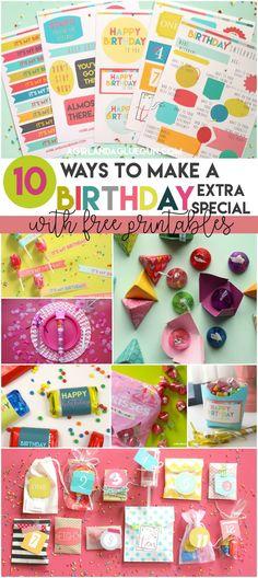 10 fun ideas to make a birthday Extra Special!