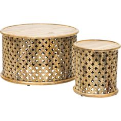 Abdalla Carved Wooden Table Set - Furniture - Accent Tables - Coffee Tables - What's New