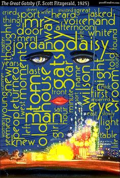 Word cloud of The Great Gatsby   prooffreader.com