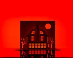 "(kirigami + architecture = spooky art)  ""Artist Takes a Serious Stab at Haunted House Horrorgami"""
