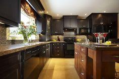 16 Brave Dark Cabinet Kitchen Designs - Top Inspirations