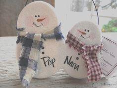 Personalized Snowman Couple Salt Dough Ornament – Cookie Dough Creations