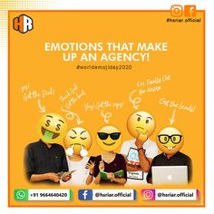 World Emoji Day 2020...!!!!  Emotion that make up an agency..!!  Follow Us @hsriar.official  Contact Us Email: hsriar.work@gmail.com Whatsapp: +91 9664640420  #hsriar #worldemojiday #worldemojiday2020 #marketing #emojiday2020 #vadodara #socialmedia #websitedesigner #hsriarofficial #instagram #facebook #graphicdesigner #seo #emojday #socialposts World Emoji Day, Social Media Marketing, Seo, Graphic Design, Facebook, How To Make, Instagram, Visual Communication