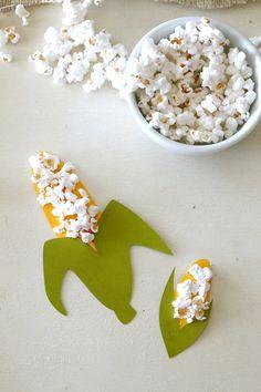 Popcorn corn craft - super cute fall activity