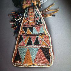 "Yoruba Necklace (detail) via ""African Costumes & Textiles"""