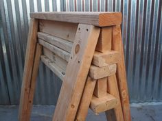 Scrap 2 x4s can be found in any wood shed, and can be used to make sturdy and strongsawhorsesin a matter of minutes.