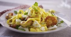 The best Tagliatelle with Prawn and Saffron Sauce recipe you will ever find. Welcome to RecipesPlus, your premier destination for delicious and dreamy food inspiration. Prawn Recipes, Rice Recipes, Saffron Sauce Recipes, Mozzarella Pasta, Food Inspiration, Seafood, Cooking, Ethnic Recipes, Sea Food
