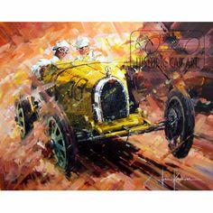 Check Mate (Junek / Bugatti 35B) Original Painting by John Ketchell