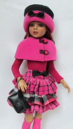 """LIZETTE'S IN THE PINK FOR FALL!  FOR 16"""" ELLOWYNE, ETC. MADE BY SSDESIGNS"""