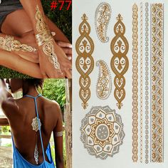 Temporary Tattoos Hot Temporary tattoo Gold tattoo Flash Tattoos Leaf Tatoos Metallic Sex Products jewelry Henna Tatouage Body art tatto stickers Click the image to visit the website Gold Temporary Tattoo, Gold Tattoo, Metal Tattoo, Flash Tattoos, Body Art Tattoos, Tatoos, Leaf Tattoos, Henna Tatoo, Fake Tattoos