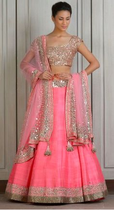 Looking for Lehenga Online: Buy Indian lehenga choli online for brides at best price from Andaaz Fashion. Choose from a wide range of latest lehenga designs. Indian Lehenga, Lehenga Sari, Raw Silk Lehenga, Bridal Lehenga, Anarkali, Pink Lehenga, Wedding Lehnga, Pakistani Dresses, Indian Dresses