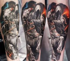 Realistic Movies Tattoo by Alexandr O Kharin | Tattoo No. 13453