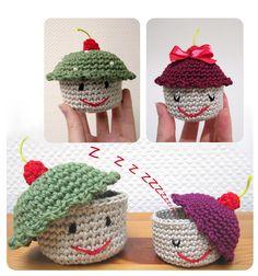 """Cupcakes crochet amigurumi - no pattern - not english"" #Amigurumi  #crochet"