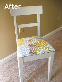 Heart Maine Home: A little chair makeover {before and after}