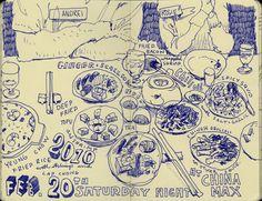 Graham Smith illustration blog: restaurant sketchbook  http://inkdrawing.blogspot.fr