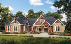 House Plan 58257 | Craftsman    Plan with 2896 Sq. Ft., 3 Bedrooms, 4 Bathrooms, 2 Car Garage