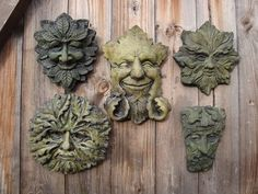 Green Man Wall Plaques, friendly faces for your garden | eBay UK