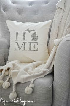 Pillow with home state