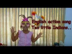 English action song for kids - One little, two little three little india...