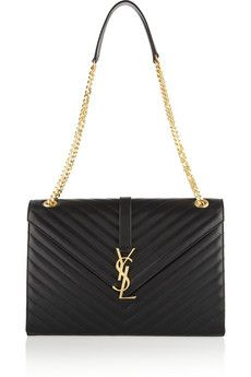 Saint Laurent Cassandre large quilted leather shoulder bag | NET-A-PORTER